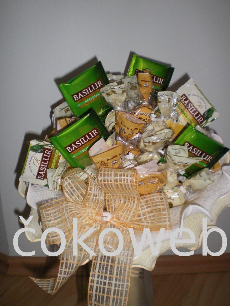 Čokoládová kytice - s čajem - 1