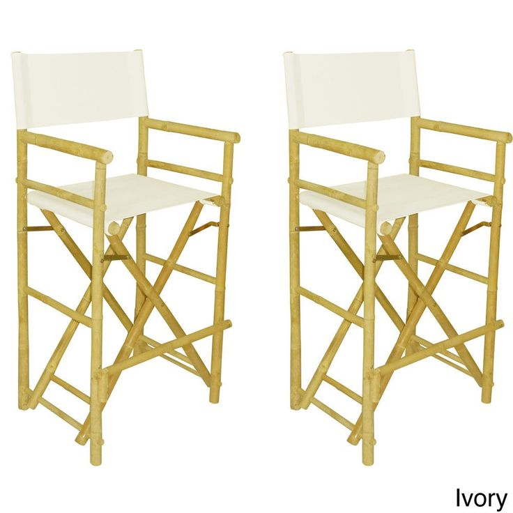 Phat Tommy Foldable Tall Directors Chair Set (Set Of 2) (Black) Patio Furniture (Polyester). Directoru0027s ChairBar StoolsDining ...  sc 1 st  Pinterest & 78 best Bar Stools images on Pinterest | Directoru0027s chair Bar ... islam-shia.org