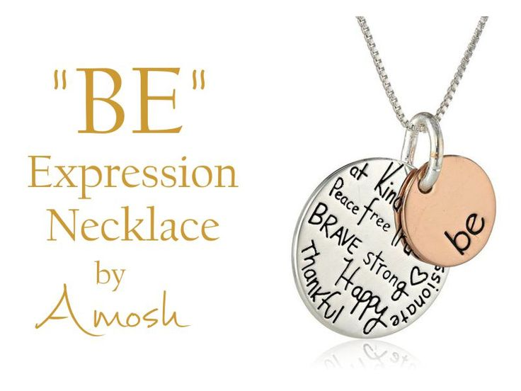"Declare who you are with this popular french necklace that has been translated into english - Two-tone necklace with ""BE"" engraved on one charm and ""Kind, Free, True, Brave, Strong, Happy, Thankful, Compassionate"" engraved on the other. Crafted in .925 sterling silver and rose gold-flashed sterling silver. What a positive way to start you day."