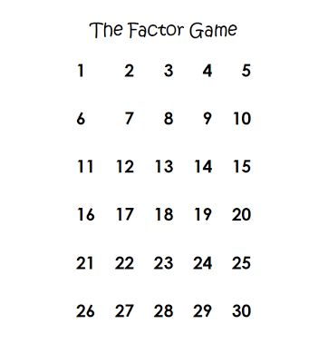 The Factor Game! (Middle School Math Moments) (With images