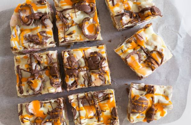 Creme Egg white chocolate rocky road recipe - goodtoknow( milk chocolate would be better I think)
