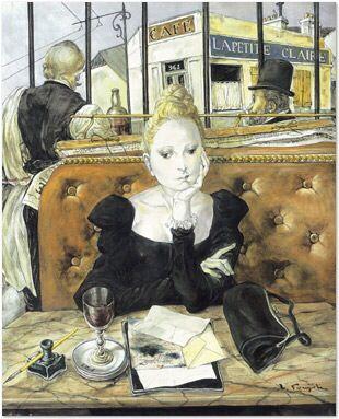 By Léonard Foujita 藤田嗣治 (藤田嗣治 1886-1968,時至今日,仍是在法國最為著名的日本藝術家。藤田以貓和女人為主題的畫作見長,他將日本畫的技巧引入油畫,他所獨創的「乳白色之肌膚」的裸體畫像在西方藝術界廣受稱讚。藤田嗣治是巴黎派畫家的代表人物。 via Wikipedia )