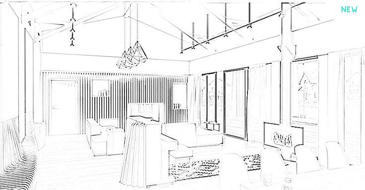 Hi-Tech living room design