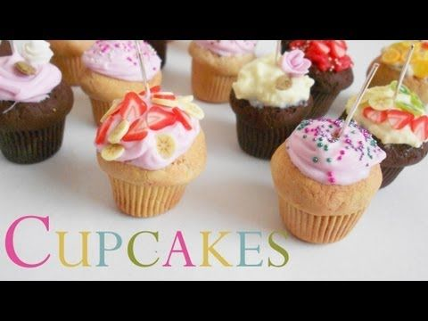 ♡ Cupcakes Polymer clay fimo Tutorial ♡ - YouTube