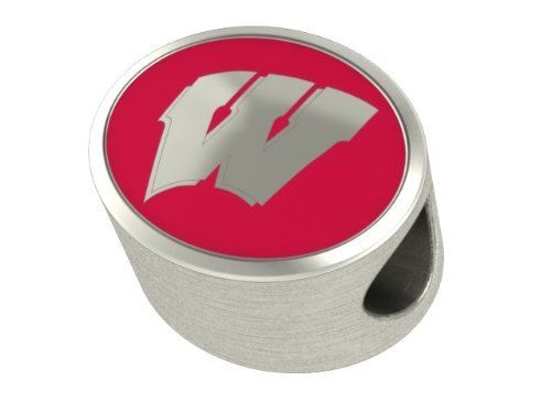 Wisconsin Badgers Collegiate Bead Fits Most Pandora Style Bracelets Including Pandora, Chamilia, Zable and More. Highest Quality Bead Available and in Stock for Immediate Shipping. Officially Licensed College Beads. $59.00. Very High Quality, Great Addition to Any Bracelet. Officially Licensed - Made in the U.S.A.. Ships Fast - In Stock. Fits Pandora, Chamilia, Biagi, Zable, Troll and More. Solid Sterling Silver - Not Plated
