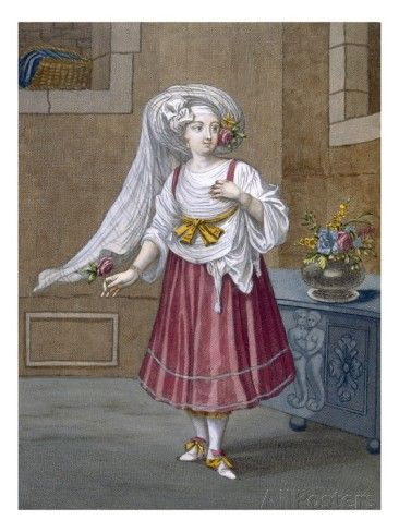 A Girl of Chios, Plate 74 Giclee Print by Jean Baptiste Vanmour - AllPosters.co.uk