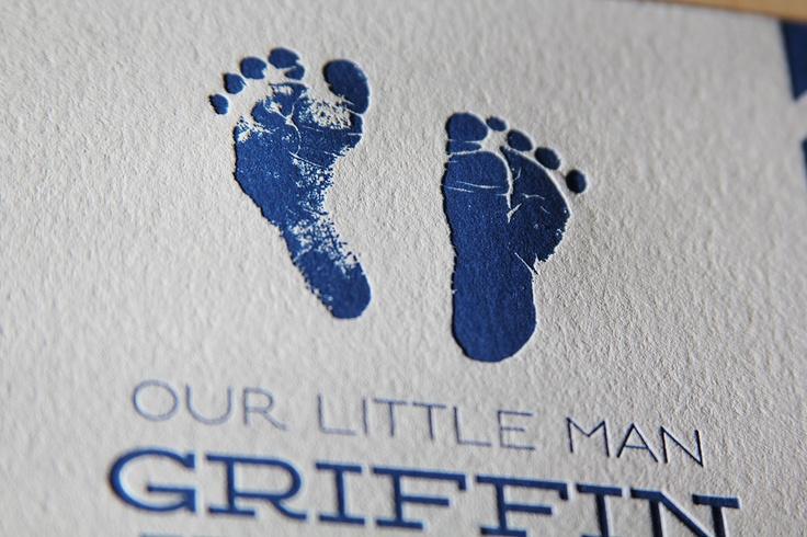 Letterpress baby announcement.  www.wishboneletterpress.com
