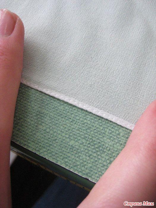 Оригинальный способ узкой подгибки на лёгкой ткани. МК