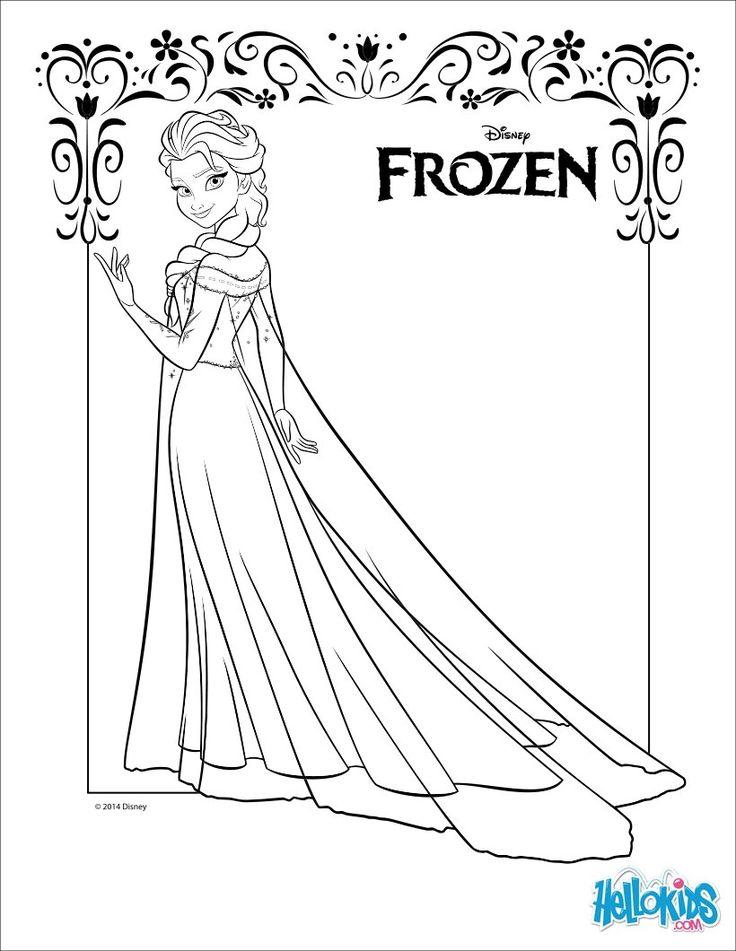 Frozen Coloring Pages - Elsa