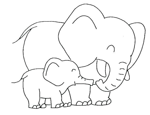 easy elephant coloring pages ideas for beginners. Black Bedroom Furniture Sets. Home Design Ideas