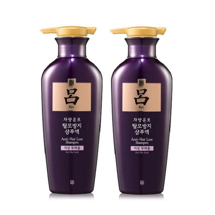 2 Pcs Ryo Jayang Yoon Mo Anti Hair loss Shampoo 400ml For Oily Scalp Amore Ryoe #RYO