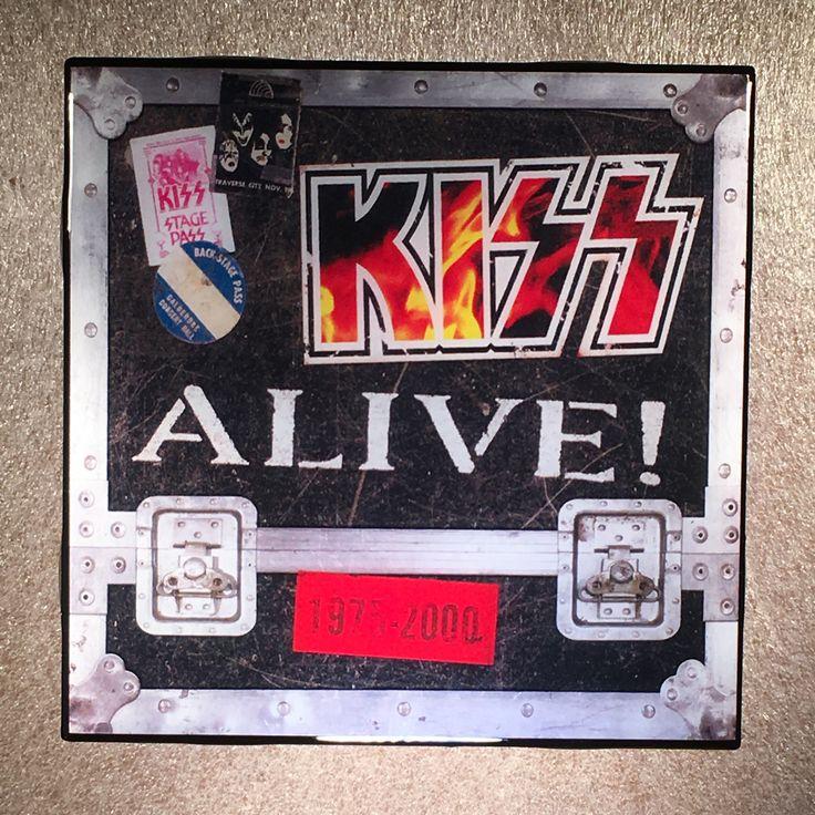 Kiss Alive 1975 2000 Coaster Custom Ceramic Tile In 2020 Tile
