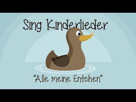 ▶ Alle meine Entchen - Kinderlieder zum Mitsingen - YouTube