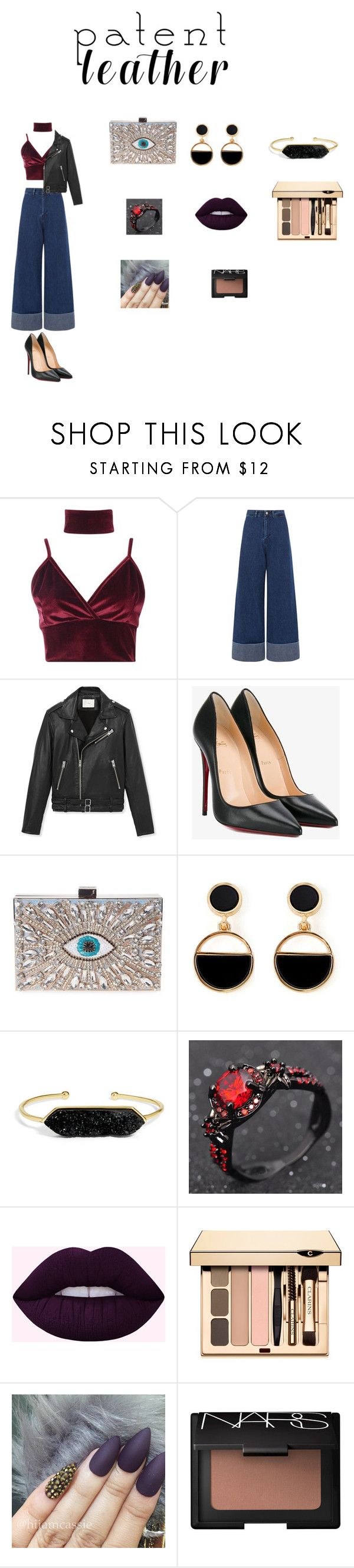 """""""contempo"""" by yesica-rey on Polyvore featuring moda, Boohoo, Sea, New York, IRO, Christian Louboutin, GEDEBE, Warehouse, BaubleBar y NARS Cosmetics"""