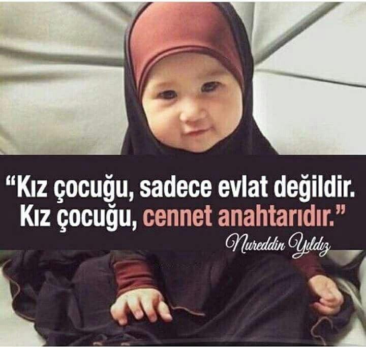 """☝ """"Kız çocuğu, sadece evlat değildir. Kız çocuğu, cennet anahtarıdır.""""  [Nureddin Yıldız]  #kızçocuk #kız #çocuk #sadece #evlat #cennet #anahtar #nureddinyıldız #nurettinyıldız #islam #müslüman #türkiye #ilmisuffa"""