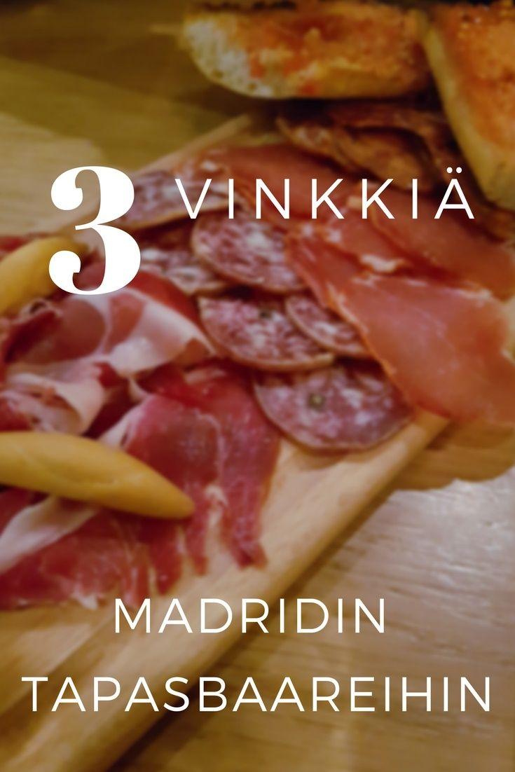 Tapasbaarit Madridissa. Mihin kannattaa mennä ja mihin ei? Madrid, Espanja, tapas, matkablogi, matkavinkit. Matkablogi Suunnaton.