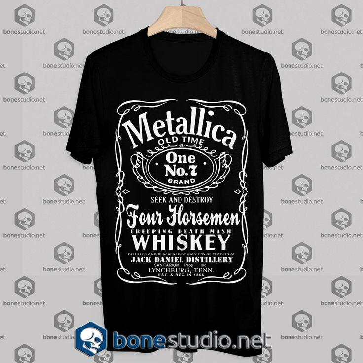Tshirt Metallica Jack Daniels – Tshirt Adult Unisex Size S-3XL