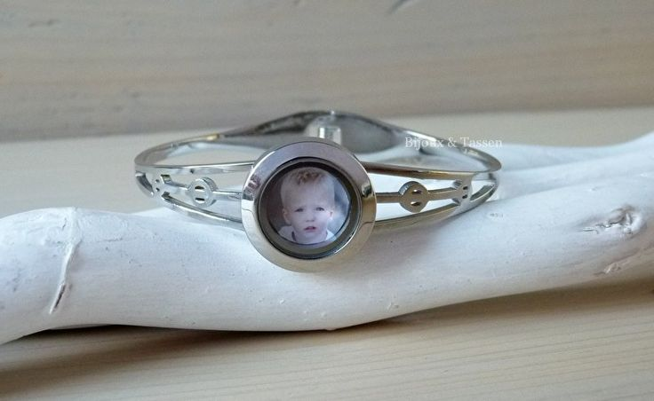 Memory locket armband inclusief fotomunt