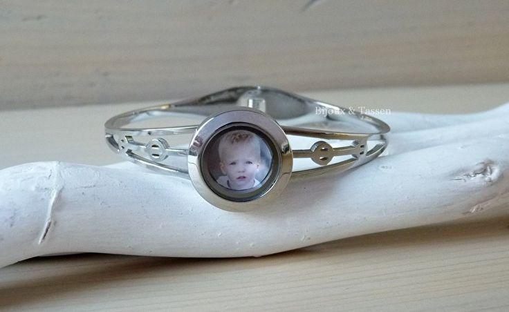 Memory locket armband inclusief fotomunt