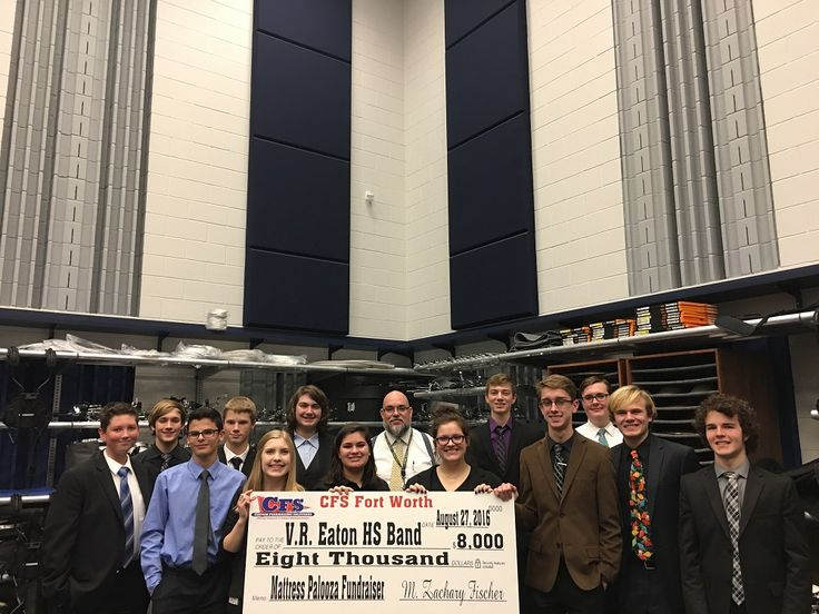 The VR Eaton High School Band can toot their horn over the $8,000 they raised at their recent Mattress Fundraiser!
