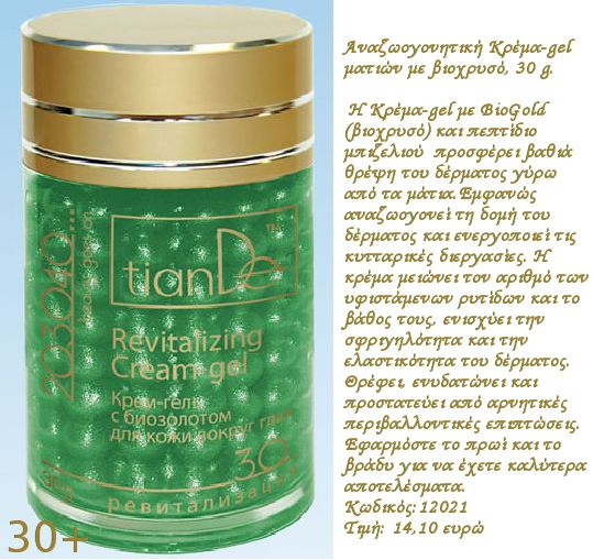 Revitalizing eye cream-gel from Tiande
