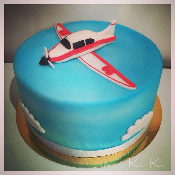 Fondant cake, airplane
