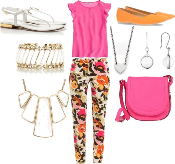 """""""Floral pants outfit"""" by esperanzandrea on Polyvore"""