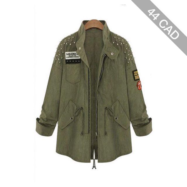 Spike Army Parka Jacket