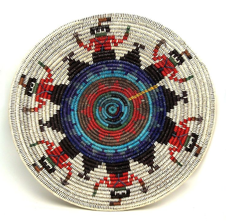 Navajo Yei Basket - Sally Black - Museum of Indian Arts and Culture - Stunning Art Work by New Mexico Artists