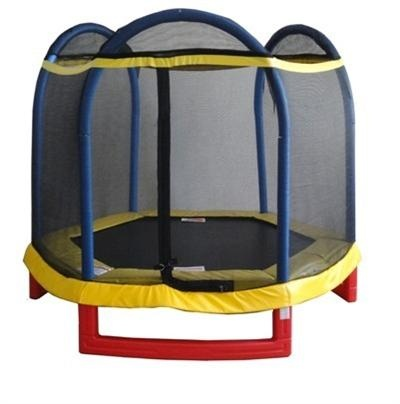 Tiny Tott Kids Hexagon Trampoline -   The Tiny Tott hexagon trampoline has a built in Flashzone where a light goes off when you bounce and is extremely durable. All kids ages 3-10 will have hours of fun in the light and dark with the newest techonological advancement in trampolines. Perfect for indoor or outdoor use no matter what the weather. #Trampolines