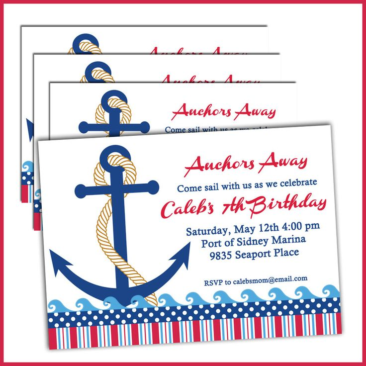 89 best Nautical Birthday Party images – Boat Party Invitation