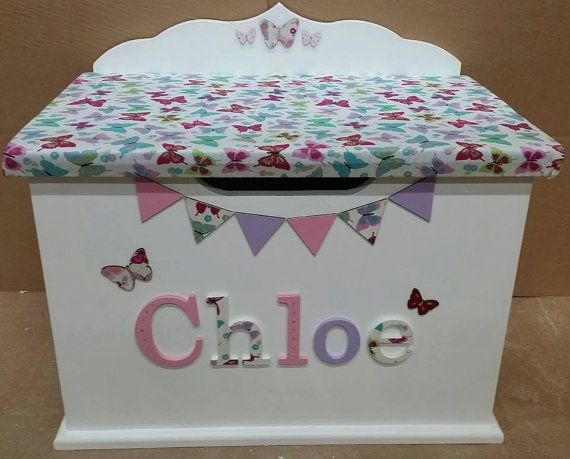 Personalised custom bespoke wooden toy box any by Kidsdreambox