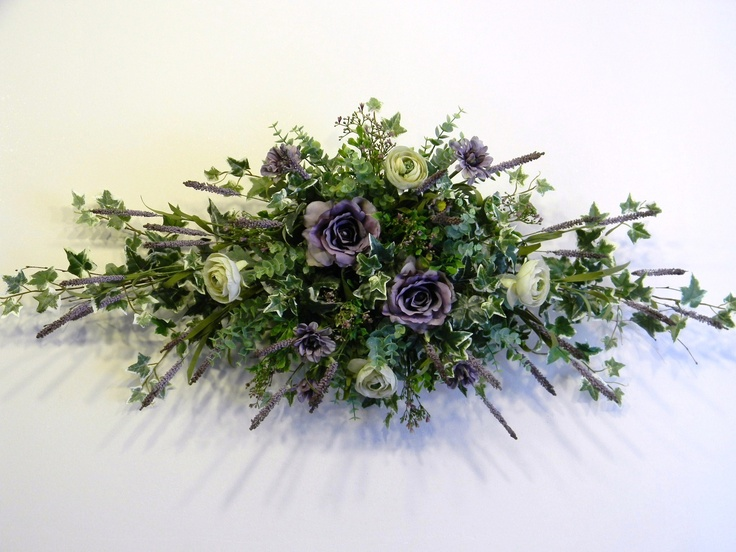 163 best floral swags images on pinterest floral arrangements image detail for lavender and sage birch swag mightylinksfo Choice Image
