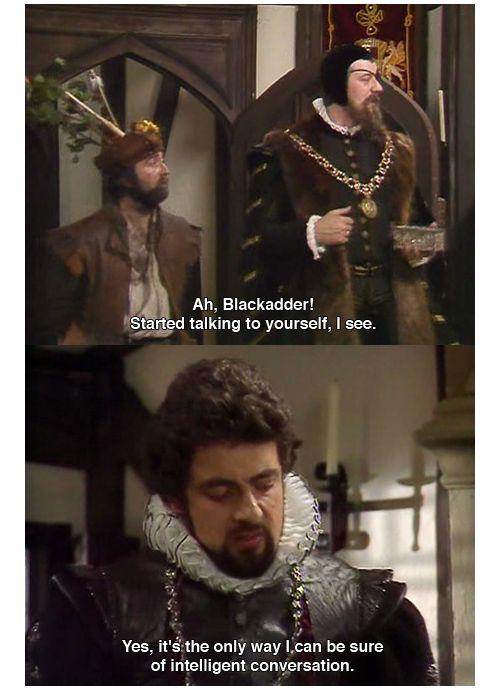 Rowan Atkinson and Stephen Fry (Blackadder)