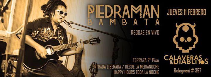 Sesión Reggae en vivo ::: Piedraman Bambata ::: Pub Calaveras & Diablitos – Heyevent.com