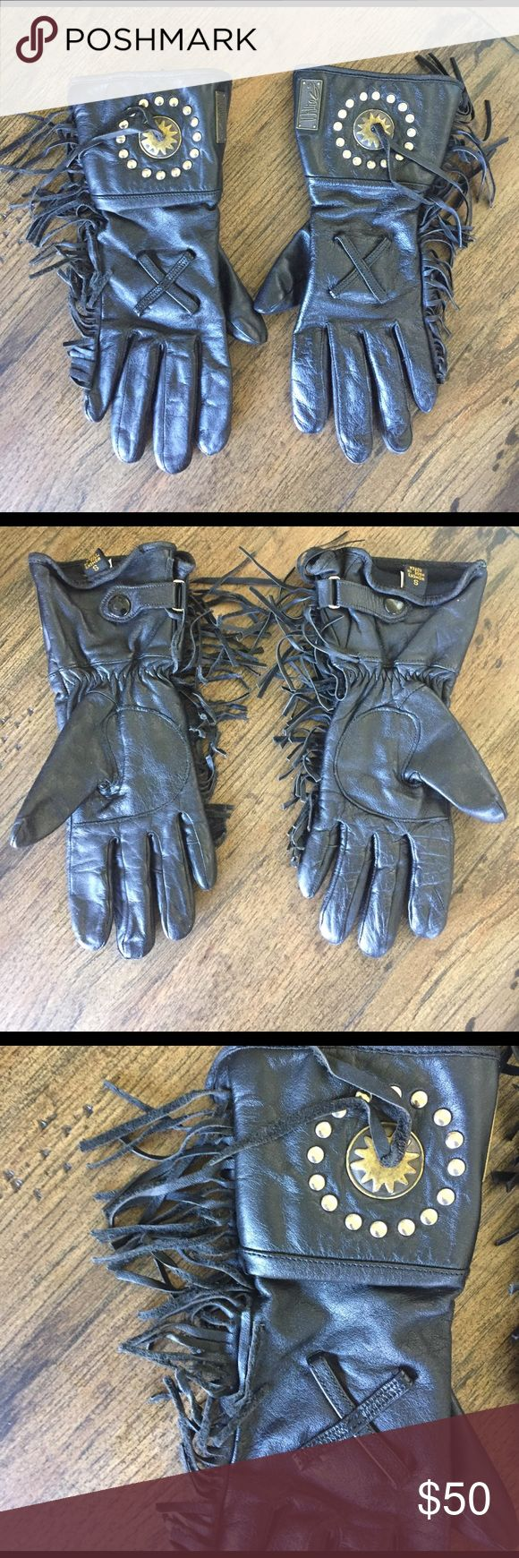 Motorcycle gloves san francisco - Women S Leather Fringe Motorcycle Gloves