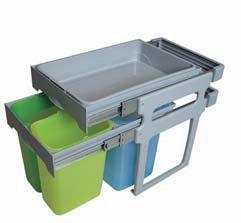 Pull-out waste bin   (2 Buckets 8lt, 1 bucket 16lt)
