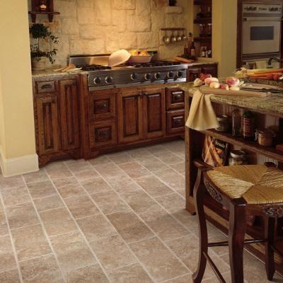 Pergo Presto Beige Tumbled Marble Length Laminate Flooring Ft Home Depot Bathroom