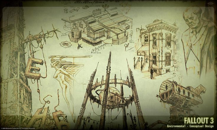 Fallout 3 - Environment Concept Art