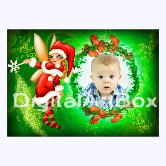 Custom Photo Christmas CardLast minute by DigitalArtBox on Etsy