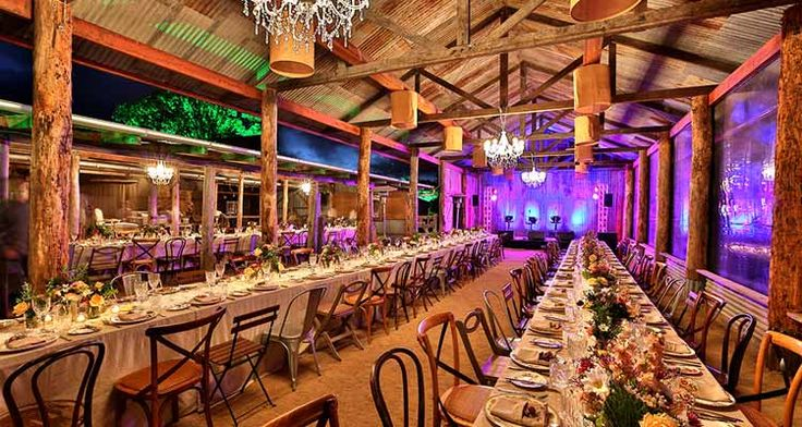 Yandina Station corporate event dining setting on the Sunshine Coast