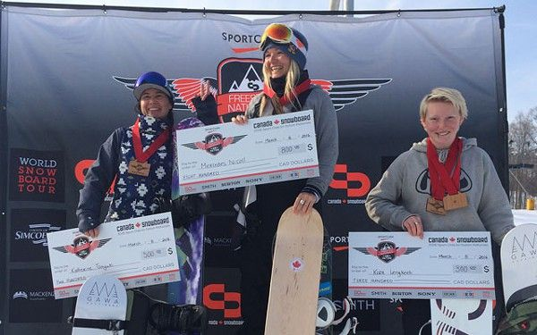 Snowboarder Mercedes Nicoll was a four-time national halfpipe champion coming into last week's Sport Chek Air Nation Freestyle Nationals festivities at Quebec's Mount St. Louis....