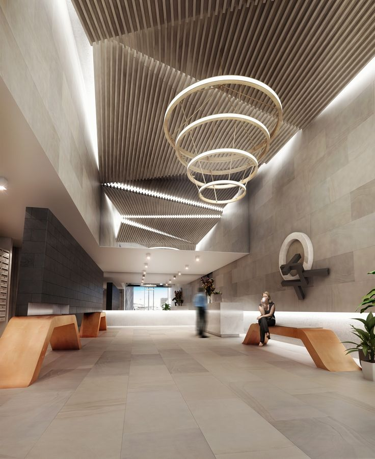 Lobby of Central Apartments, South Yarra. A collaboration between Doherty Lynch and Little Projects.