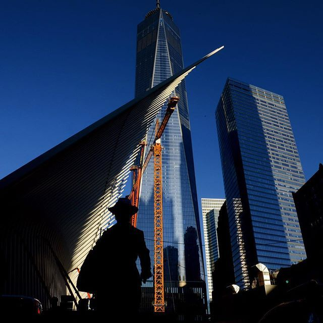 Morning rush hour commuters at 911 Memorial near World Trade Center in New York, NY, September 15, 2015.(@arfotofirst)