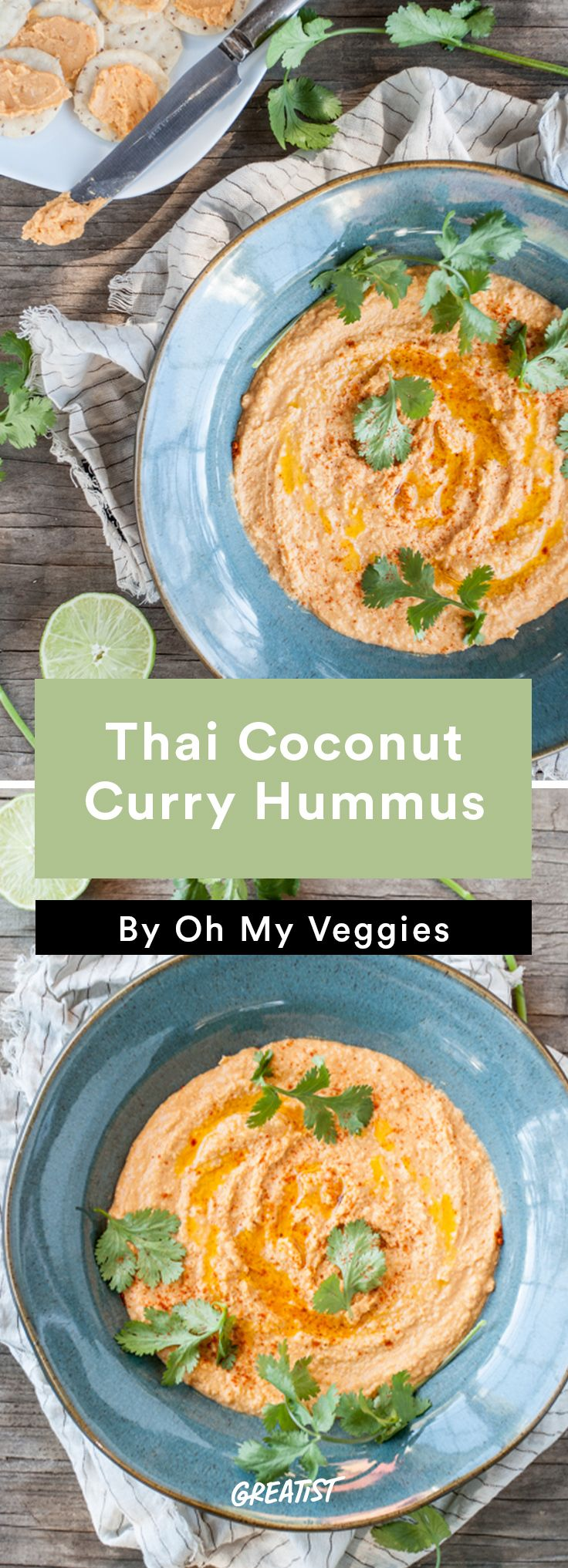 7. Thai Coconut Curry Hummus #healthy #dip #recipes http://greatist.com/eat/dip-recipes-way-better-than-the-classics