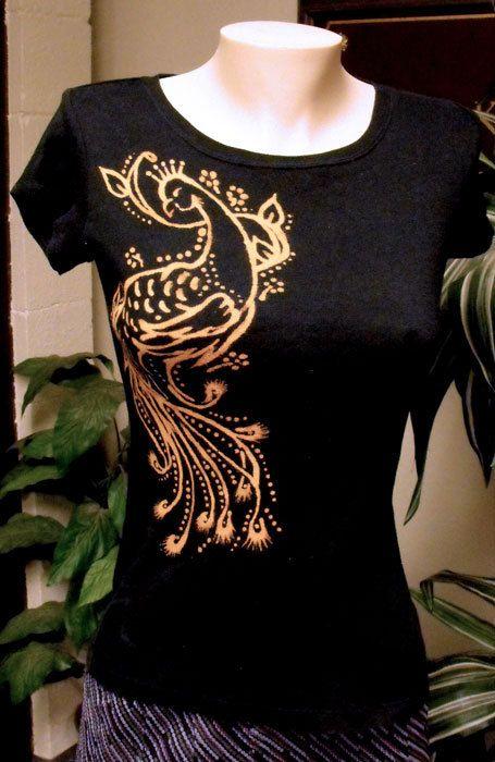 Peacock Bleached Design Tshirt Black Cherokee brand door buddyschild, $17.00