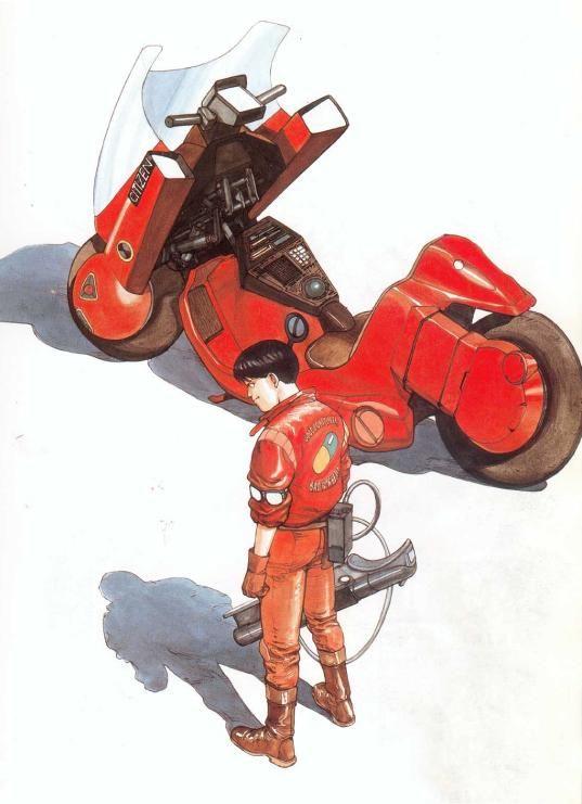 漫画版AKIRAでの金田のバイク