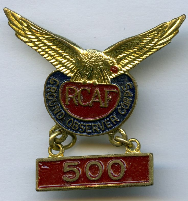 RCAF Ground Observer Corps - 500 hours
