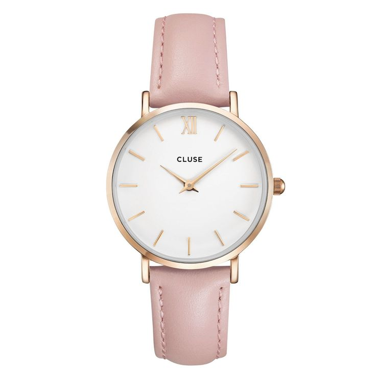 Cluse watches - minuit rose gold and white, pink