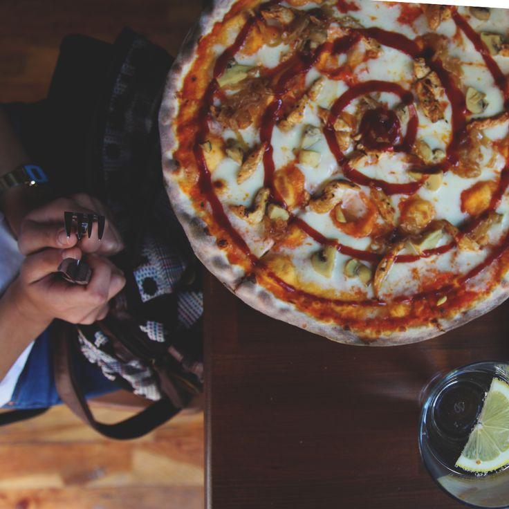 Barbeque pizza ! #Pizza #KevCafe #Kadikoy